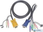 ATEN KVM Console kábel PS/2 1.8m  (2L-5302P)