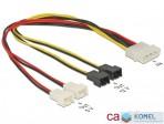 Delock Molex 4 pin apa > 4 x 2 pin ventillátor tápkábel (83343)