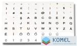 Value billentyűzet matrica: magyar, fekete betű, átlátszó alap