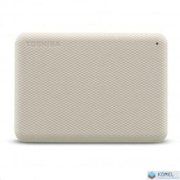 """1TB Toshiba 2.5"""" Canvio Advance külső winchester világosbézs (HDTCA10EW3AA)"""